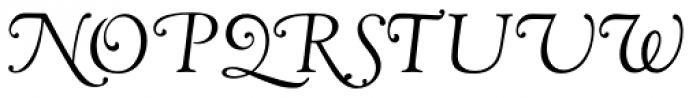 LTC Goudy Oldstyle Cursive Font UPPERCASE