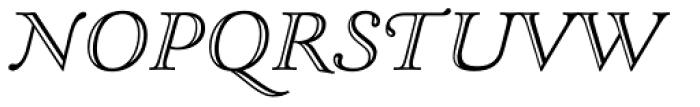 LTC Goudy Open Italic Font UPPERCASE