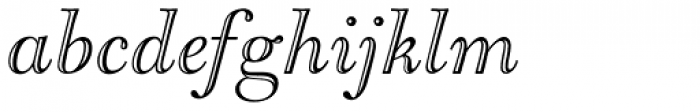 LTC Goudy Open Italic Font LOWERCASE
