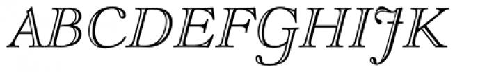 LTC Goudy Open Pro Italic Font UPPERCASE
