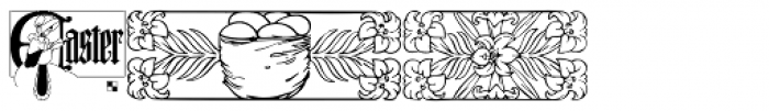 LTC Holiday Ornaments Font OTHER CHARS