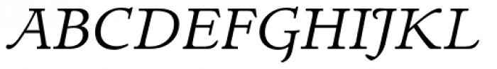 LTC Italian Old Style Italic Font UPPERCASE
