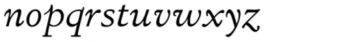 LTC Italian Old Style Italic Font LOWERCASE