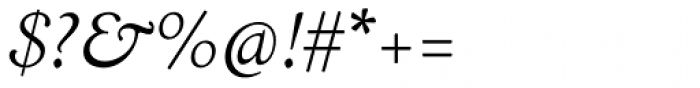 LTC Italian Old Style Light Italic Font OTHER CHARS