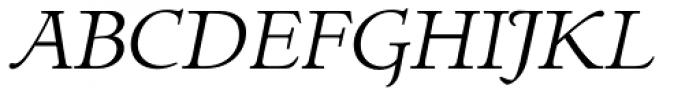 LTC Italian Old Style Light Italic Font UPPERCASE