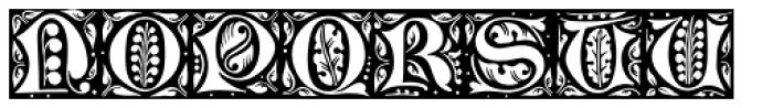 LTC Jacobean Initials A Font UPPERCASE