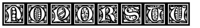 LTC Jacobean Initials Framed A Font UPPERCASE