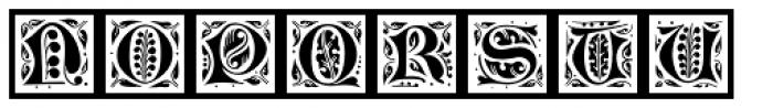 LTC Jacobean Initials Framed C Font UPPERCASE