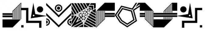 LTC Keystone Ornaments Regular Font UPPERCASE