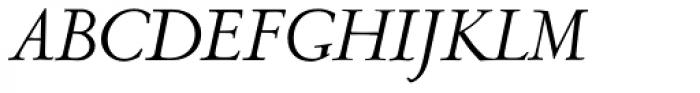 LTC Metropolitan Italic Alt Font UPPERCASE
