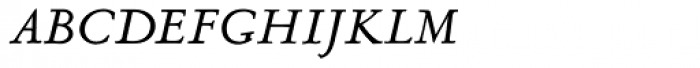 LTC Metropolitan Italic Small Caps Font LOWERCASE