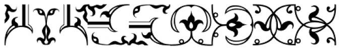 LTC Metropolitan Ornaments Font LOWERCASE