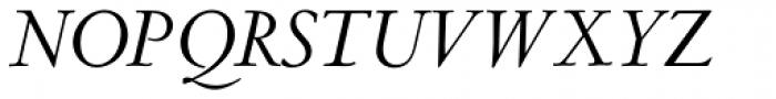 LTC Metropolitan Pro Italic Font UPPERCASE