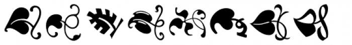 LTC Vine Leaves Font UPPERCASE