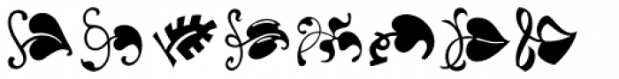 LTC Vine Leaves Font LOWERCASE