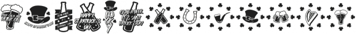 LUCKY IRISH otf (400) Font LOWERCASE