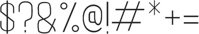 LUMOS LIGHT Regular otf (300) Font OTHER CHARS