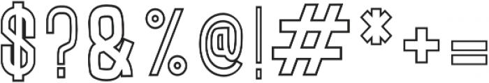 LUMOS THIN Regular otf (100) Font OTHER CHARS