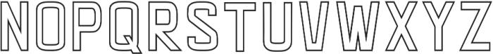 LUMOS THIN Regular otf (100) Font LOWERCASE