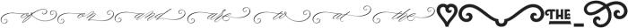 Lubaline Extras Regular otf (400) Font UPPERCASE