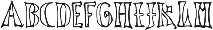 LucasBrandisVoided otf (400) Font UPPERCASE