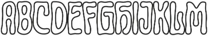 Lucidity Psych Outline otf (400) Font UPPERCASE