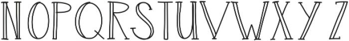 LuckSerif ttf (400) Font UPPERCASE