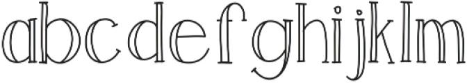 LuckSerif ttf (400) Font LOWERCASE