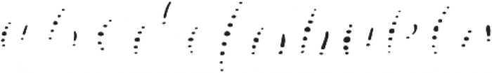 Lucky Dip Annabelle Pattern otf (400) Font LOWERCASE