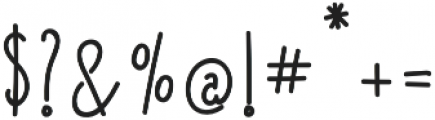 Lucky Lisp Bold otf (700) Font OTHER CHARS