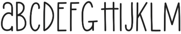 Lucky Lisp Bold otf (700) Font UPPERCASE