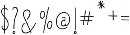 Lucky Lisp Regular otf (400) Font OTHER CHARS