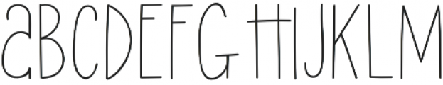Lucky Lisp Regular otf (400) Font UPPERCASE