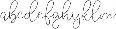 Lucylane otf (400) Font LOWERCASE