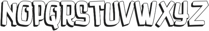 Luducudu Extrude otf (400) Font UPPERCASE
