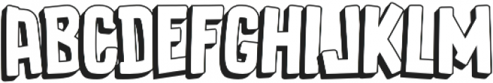 Luducudu Extrude otf (400) Font LOWERCASE