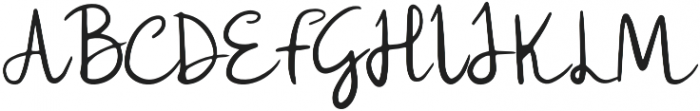 Lulla Font Regular otf (400) Font UPPERCASE