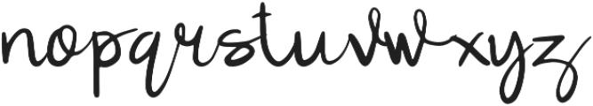 Lulla Font Regular otf (400) Font LOWERCASE