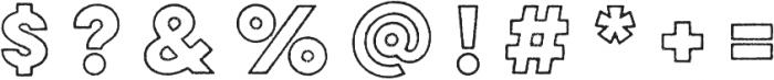 Lulo Outline Bold otf (700) Font OTHER CHARS