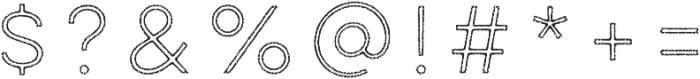 Lulo Outline otf (400) Font OTHER CHARS