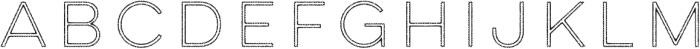 Lulo Outline otf (400) Font UPPERCASE
