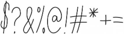 Lulu Regular otf (400) Font OTHER CHARS