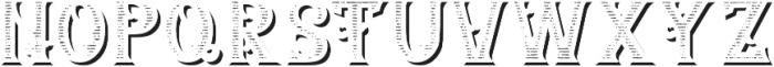 Lumberjack TextureAndShadowFX otf (400) Font UPPERCASE