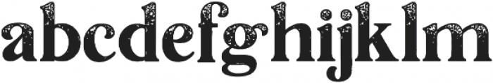 LumieraRough Regular otf (400) Font LOWERCASE
