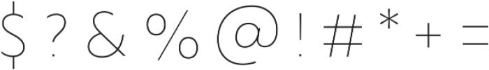 Lumiere Six otf (400) Font OTHER CHARS