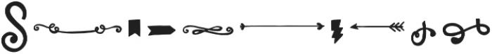 LunchBox Slab Ornaments otf (400) Font OTHER CHARS