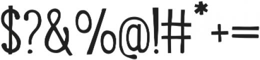 LunchBox Slab otf (300) Font OTHER CHARS
