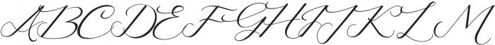 Lusya Regular otf (400) Font UPPERCASE