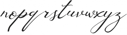 Lusya Regular otf (400) Font LOWERCASE