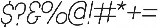 Luwest Rounded Light Italic otf (300) Font OTHER CHARS
